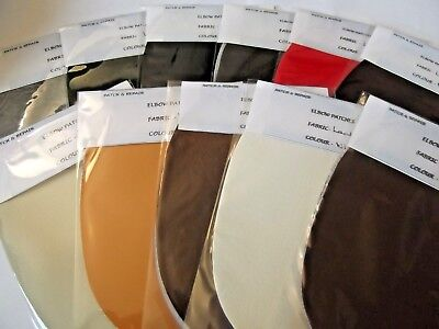 PATCHES TRIMMINGS CHOICE OF 11 COLORS WASHABLE FABRIC OBLONG ELBOW