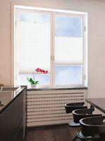 Klemmfix Plissee Faltstore Fenster Falten Rollo verspannt Weiß Breite 50-120 cm