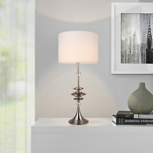 Das Bild Wird Geladen Lux Pro Grosse Tischleuchte Weiss Tischlampe H 88cm