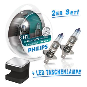 Philips-H1-Lampe-X-treme-Vision-130-mehr-Licht-2St-Cuby-LED-Taschenlampe