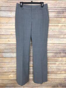 Banana Republic Martin Fit Dress Pants Womens 4 Wool Blend Wide Leg Trouser Gray
