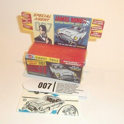 CORGI TOYS 270 James Bond instruction leaflet /& Poster Boutique Sign Aston Martin