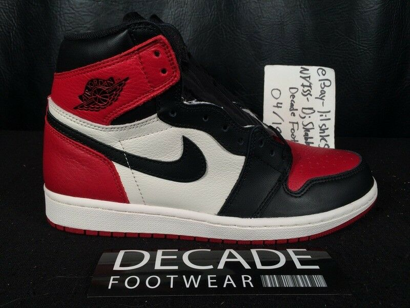 NIKE AIR JORDAN 1 HIGH OG GYM RED BLACK 8-13 BRED TOE BANNED ROYAL 555088 610