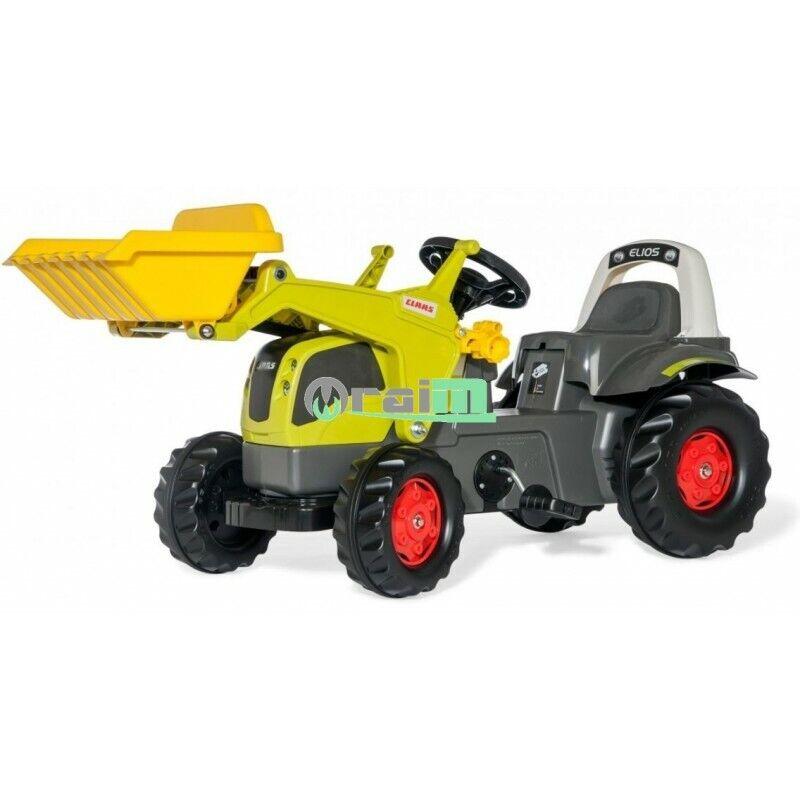 025077  Rolly giocattoli Trattore a pedali Claas 230 Elios con autorello