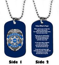 DOG TAG NECKLACE - Police Officer Policeman Prayer 1 Hero Christian Jesus God