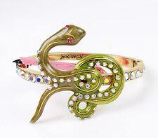 BETSEY JOHNSON 'Turqs & Caicos' Snake Gold-Tone Hinged Bangle Bracelet $45