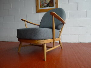 Cushions-amp-Covers-Only-Ercol-203-Chair-Mid-Grey-Stitch