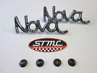1973 1974 73 74 Nova Pair Of Fender Emblems Emblem Gm Authorized Resto Parts