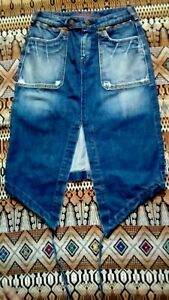 Collector-Les-p-039-tites-bombes-Jupe-Original-Jeans-taille-US-S