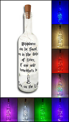Personalised Harry Potter Light Up Wine Bottle Lamp Birthday Valentines gift