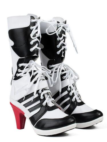 Batman DC Comics Suicide Squad Harley Quinn Cosplay Boots  Shoes Female US 7
