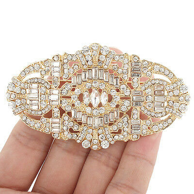 The Great Gatsby Movie Inspired Buckle Brooch Pin Clear Austrian Crystal Chic