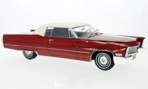 Cadillac Deville Coupé Rouge Blanc 1967 - 1 18 BoS    NEW