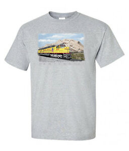 Union-Pacific-Centennial-Railroad-Train-T-Shirt-Tee-Shirt-73