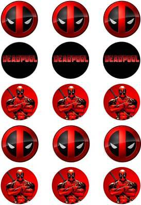 "DeadPool Theme Cupcake Toppers; 15 x 2"" (50mm) circles. | eBay"
