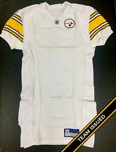 info for 7aa34 bf83c Details about Pittsburgh Steelers Team Issued Reebok Away Jersey Uniform  Back Stock