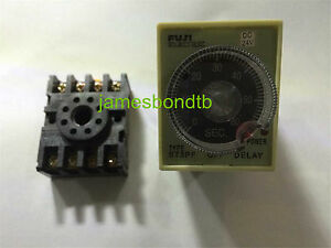ST3PF-12V-24V-110V-220V-10s-30s-60s-3min-Power-Off-Delay-Timer-Time-Relay-w-Base