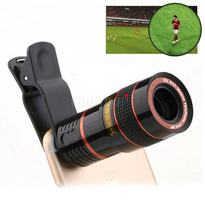 8X Zoom Phone Camera Alloy Telephoto Telescope Lens +Clip For Cell Phone iPhone