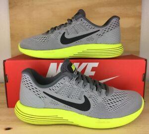 405c3e980e5a5 Nike Lunarglide 8 Running Shoe 843725-010 Wolf Gray Yellow Men Size ...