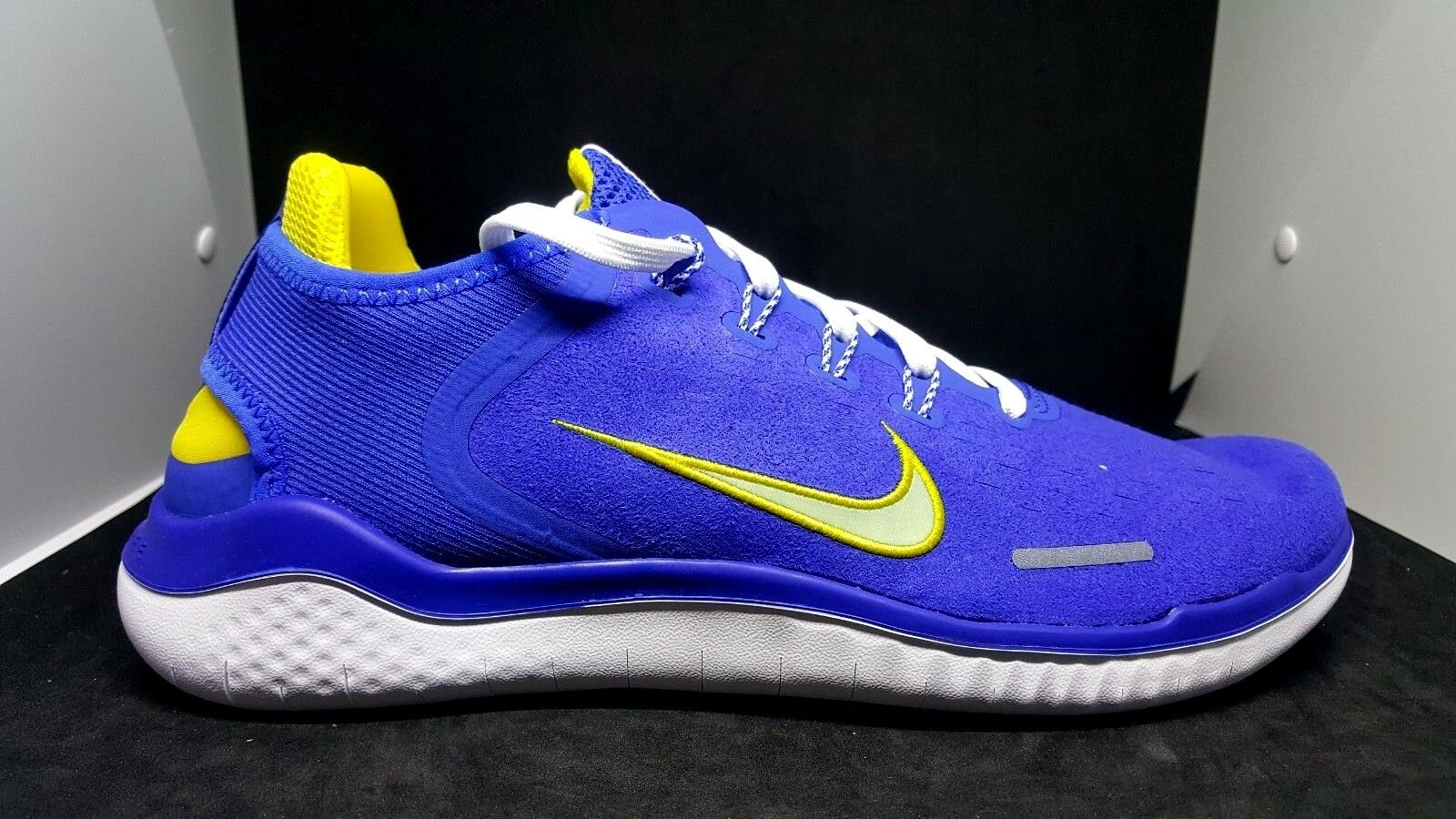 Nike Free RN 2018 DNA Men's Hyper Cobalt Citron Tint White H7870400 multi size