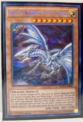 Secret Rare 1st Edition Blue-Eyes Alternative White Dragon
