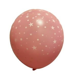 Star Theme 12 Night Balloons Star Sky Balloons 12 Pack PINK Star Balloons Star Decorations Party Supplies Star Latex Balloons