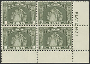 Canada-209-10c-United-Empire-Loyalists-LR-Plate-1-Block-F-VF-NH
