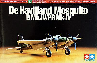 Tamiya 60753 De Havilland Mosquito B Mk.IV/PR Mk.IV 1/72 scale Kit NZA