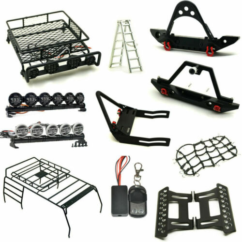 Front Rear Bumper Roof Luggage Rack Net Winch For 1//10 RC Cars Trx-4 Axial SCX10