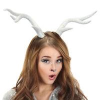 Deer Animal Silver Antlers Horns Reindeer Adult Christmas Xmas Costume Accessory