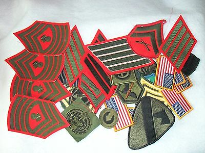 Lot of 32 Iron on-Sew on Military Patches