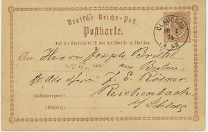 DT-REICH-GLAUCHAU-Sachsen-K1-a-Gr-roetlichbraun-Kab-GA-Postkarte-ABART