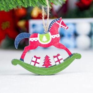 Eg-da-Appendere-in-Legno-Cavallo-Ciondolo-Albero-di-Natale-Ornamento
