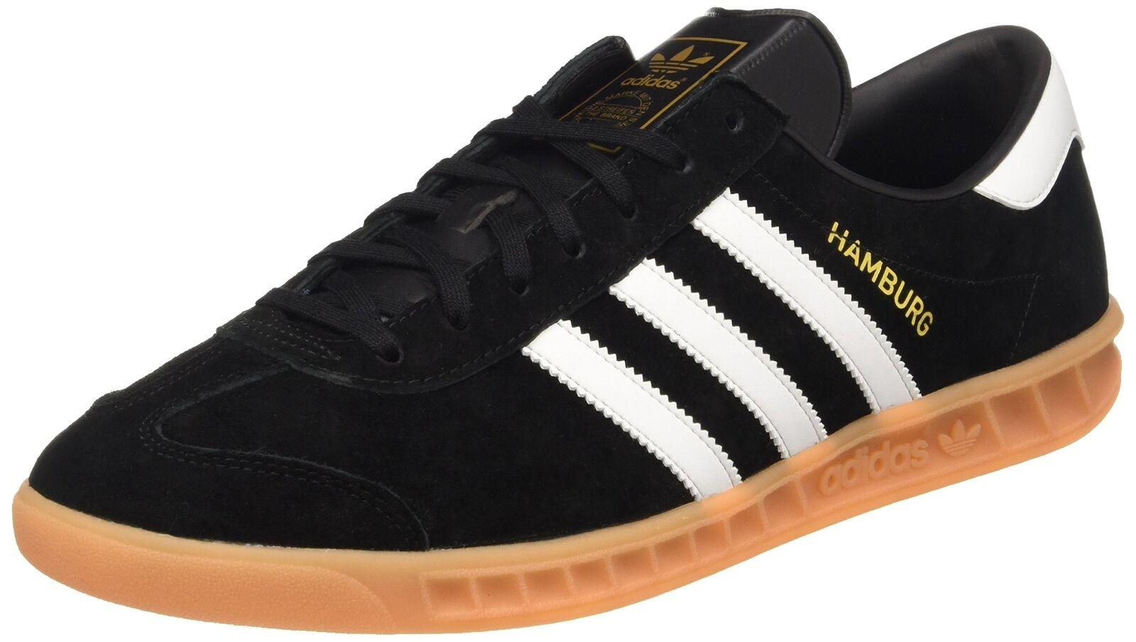 adidas Originals Black Hamburg Mens Sneaker Black Originals S31602 size 5.5US 112c19