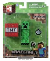 Minecraft Core Creeper Action Figure With Accessory , New, Free Shipping