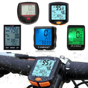 Waterproof-Wired-Wireless-Cycling-Bicycle-LCD-Backlight-Odometer-Speedometer-New