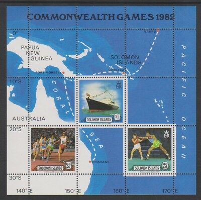 1982 Mnh Sg Ms475 Royal Besuchen Blatt Solomon Inseln