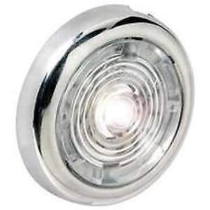 """Attwood 1.5/"""" Round SS Int //Ext LED Spot Light White LED #6342SS7"""