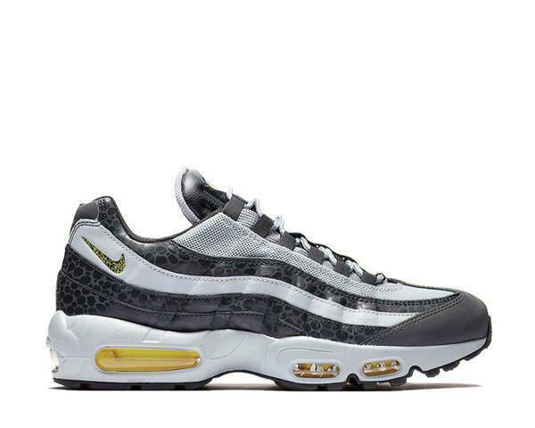 Nike Air Max 95 SE Safari Reflective Mens Bq6523 001 Grey Yellow Shoes Size 9