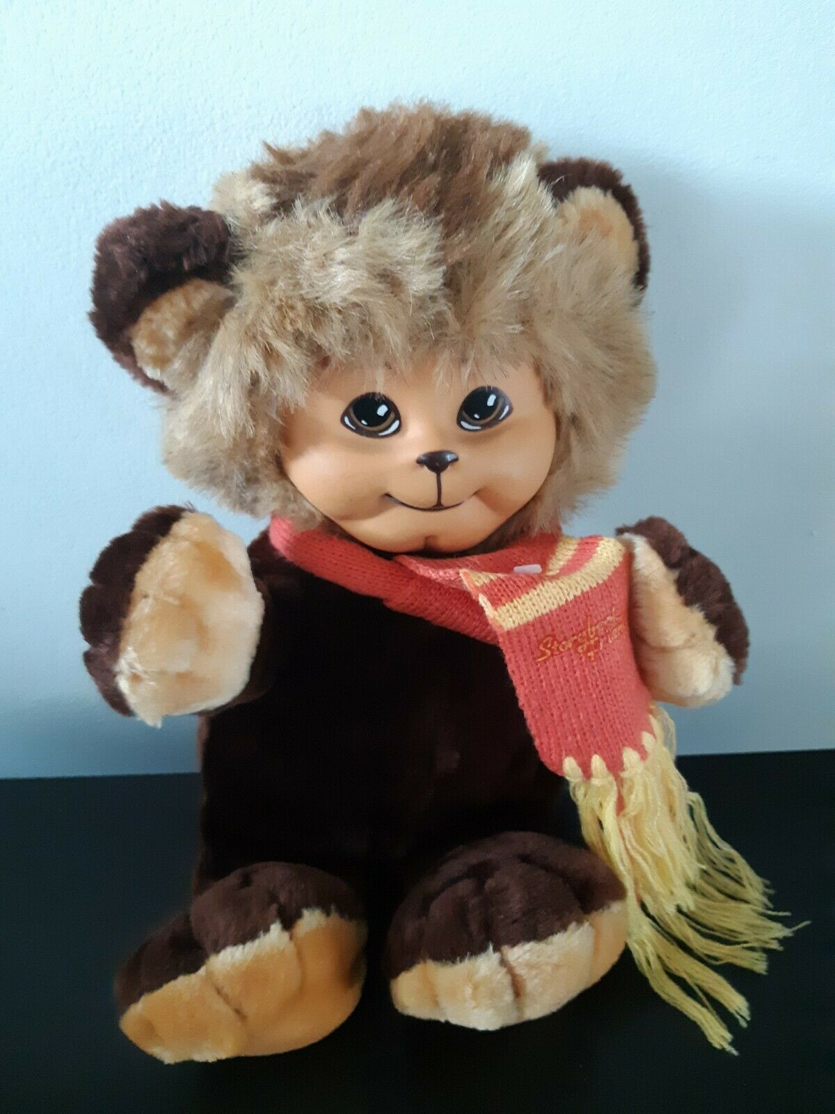 Vintage Storybook Friends Plush Stuffed Animal Toy Imports Bear 1984 Brown 12