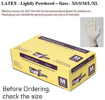 5 mil Lightly Powdered General Purpose Gloves X-Large SPL6105 1000 Latex