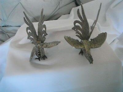 Eagles Ornamenti In Metallo Argento Vintage-mostra Il Titolo Originale Essere Accorti In Materia Di Denaro
