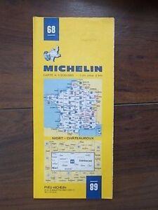 MICHELIN FOLDING SHEET TOURIST MAP 68 FRANCE NIORT CHATEAUROUX
