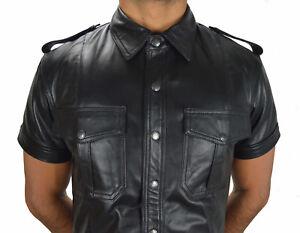 665 Awanstar Lederhemd Napa Leder Hemd,soft Leather Shirt En Cuir,lederuniform