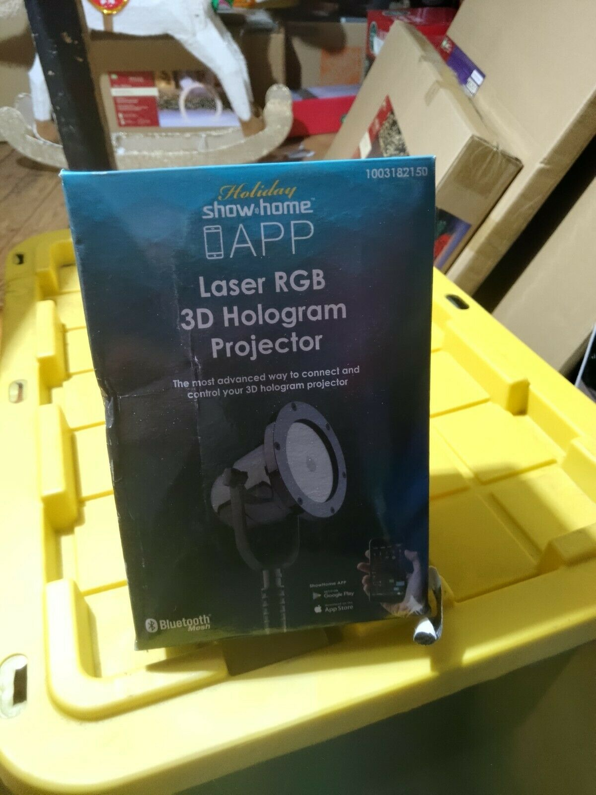 NIB DJ Party Light Holiday Show Home APP Laser RGB 3D Hologram Projector