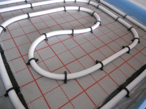 Fußbodenheizung komplettsett Warmwasser FSBH  Rohr Dämmung Isolierung Rolljet