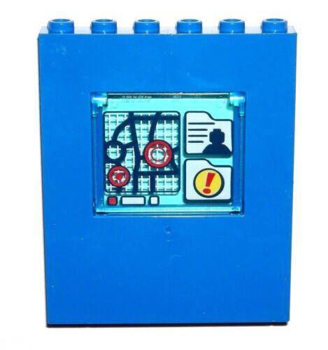 LEGO Blue Window Panel 1 x 6 x 6 with 1x4x3 Glass Minifig Map Decoration NEW
