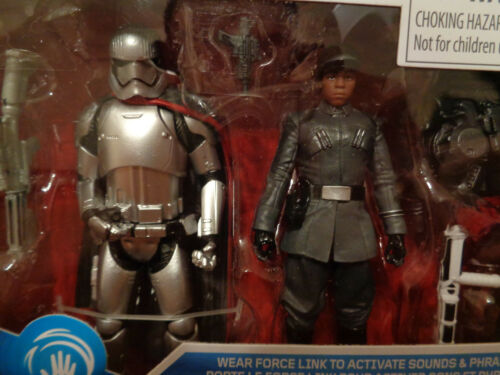 "Star Wars Last Jedi Force Link First Order Finn /& Captain Phasma 3.75/"" 2 pack"