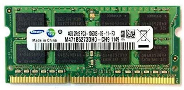 Samsung 4GB 2Rx8 PC3-10600S M471B5273DHO-CH9 SODIMM Memory RAM DDR3
