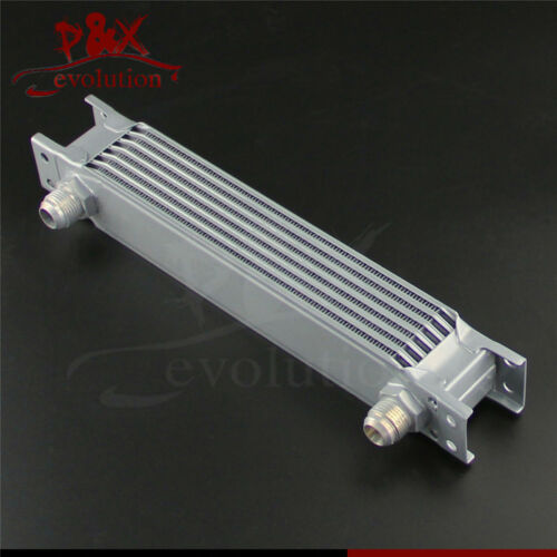 Universal 7 Row AN10 Engine Transmission 248mm Oil Cooler Silver